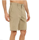 New HURLEY Nike Dri Fit chino shorts solid beige khaki  hybrid sz 30 32 34 36 38