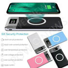 900000mAh Power Bank Qi Wireless Charging 2 USB LCD LED Portable Battery Charger