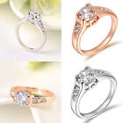 cheap gifts for teenage girls - EP_ HK- Women Girl Cheap New Crystal 9K Gold Plated Rhinestone Wedding Ring Gift
