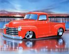 1950 Chevy 3100 Pickup Hot Rod Truck Art Print w/ Color Options