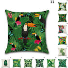Cushion Hot Soft Case Sofa Plant Cover Car Throw Waist Forest Linen Leaf Pillow