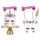 1 Set Cake Topper Kids Baby Shower Happy Birthday Party Cupcake Flags