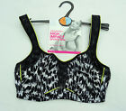 M & S UNDERWIRED  SPORTS BRA HIGH IMPACT BLACK  MIX  MARKS & SPENCER