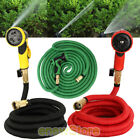 Deluxe 25/50/75/100 Feet Expandable Flexible Garden Water Hose w/Spray Nozzle US