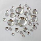Clear Round Flat Back Rhinestone Acrylic Diamond Loose Gems DIY Craft 8-30mm