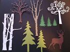 bare tree - Die Cuts: Tree Choose type Color Birch Bare Curly Chocolate Kraft White Assorted