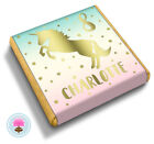 Personalised UNICORN Gold Foil Girl's Birthday Party Bag Favour Chocolates