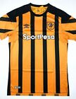 NWT HULL CITY AFC 2017 18 ML Umbro Home Soccer Jersey Football Shirt Tigers