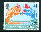 1994 GB 41p British Lion and French Cockerel Used. Channel Tunnel