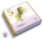 Personalised UNICORN Sparkle Gold Girl's Birthday Party Bag Favour Chocolates