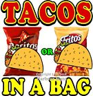 Tacos in a bag  DECAL (Choose Your Size) food Truck Concession Vinyl Sticker