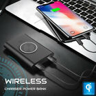 Qi WIRELESS Charger 2 Port USB Portable 8000mAh Power Bank for Cell Phones