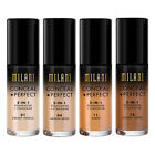 MILANI Conceal+Perfect 2-In-1 Foundation+Concealer-Choose Your Shade-UK Seller!