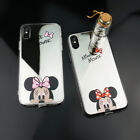 Mirror Cute Cartoon Mickey Minnie Mouse Case For iPhone X Samsung S9+ Back Cover