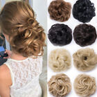 Natural Curly Hair Extensions Hairpiece Bun Updo Scrunchie Pony Tail As Human