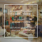 apple store durham hours - Store Hours Sign Vinyl Decal Business Open Doctor Salon Modern Square Simple