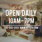 apple store durham hours - Store Hours Sign Vinyl Decal Business Open Daily Salon Modern Square Simple