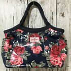 CATH KIDSTON Navy Blue Red Rose Design Handbag Every Day Casual Ladies 52749