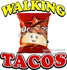 Walking Tacos DECAL (CHOOSE YOUR SIZE) Food Truck Concession Vinyl Sticker