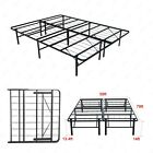 Twin/Full/Queen Bi-Fold Folding Metal Bed Frame Platform Mattress Foundation