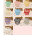 50 Filigree Vine Laser Cut Cupcake Wrappers Lace Case Wedding Birthday Party USA