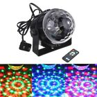 ROTATING SOUND EFFECT Disco Ball Home Party Bands KTV Club Stage Light+Remote #F