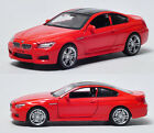 1:32 BMW M6 Metal Diecast Model Car Toy Collection Sound&Light Red Gifts