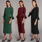 M&S AUTOGRAPH Flute Sleeve Midi Dress | SALE | Was £55
