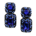 Ladies Crystal 925 Silver White Gold Filled Zircon Stud Earrings For Women Gift