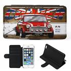 Personalised Mini Cooper Red iPhone Flip Case Classic Car Phone Cover CL35