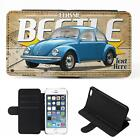 Personalised Volkswagen Beetle iPhone Flip Case Classic Car Phone Cover CL58