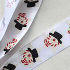 5Y/10Y 38mm printed satin ribbon bows chritmas party DIY appliques crafts