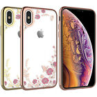For iPhone Xs Max/XS/8/7/6/6S Plus Case Clear Bling Rhinoshield Slim Cute Cover
