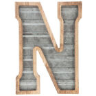 Large Wood & Galvanized Metal Letter Marquee sign Wall Decor Garage Office