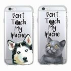 Don't Touch My Phone Husky Cat Soft Case Cover For iPhone 5