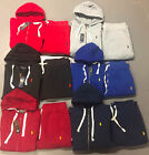 New Ralph Lauren Polo Sweat Suit Complete Suit Full Zip Hoodie Draw String Pants