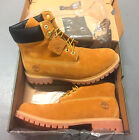 NEW MENS TIMBERLAND BOOTS 6 INCH PREMIUM WATERPROOF 10061 WHEAT NUBUCK