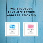 Personalised Return Address Labels Stickers   Watercolour Envelope   AD400