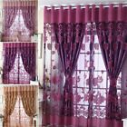 Sybaritic Jacquard Window Curtains Burnout Tulle for Living Room Bedroom Door