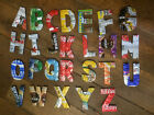 Recycled Upcycled Tin Can Wood Letters Coca-cola Sprite Beer water coffee etc. £2.0  on eBay