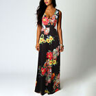 Women Boho Floral Maxi Long Dress Evening Cocktail Party Summer Maxi Sundress