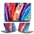"Colorful Feather Solf-Touch Matte Hard Case Cover for MacBook Air 13""A1369 A1466"