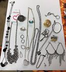 VINTAGE to MODERN RHINESTONE BROOCH PINS Charms Necklaces Earrings Rings LOT