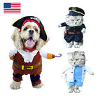 Cute Small Dog Party Cosplay Costume Suit Pet Puppy Pirate Police Doctor Clothes