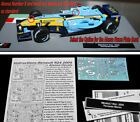 F1 Auto Collection Renault MILD SEVEN R24 Trulli & Alonso water slide DECAL 1:43