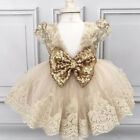 Toddler Baby Girl Birthday Wedding Pageant Party Princess Lace Tutu Flower Dress