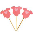 10pcs Cute Baby Clothes Cupcake Toppers Birthday Party Decor Baby Shower Supplie
