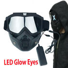 LED Luminous Half Face Mask DJ Cosplay Helmet Halloween Party Props Gift