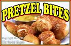 Pretzel Bites (Choose Your Size) DECAL Pretzels Food Truck Concession Sticker