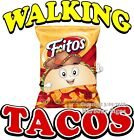 Walking Tacos DECAL (CHOOSE YOUR SIZE) Concession Food Truck Vinyl Sticker